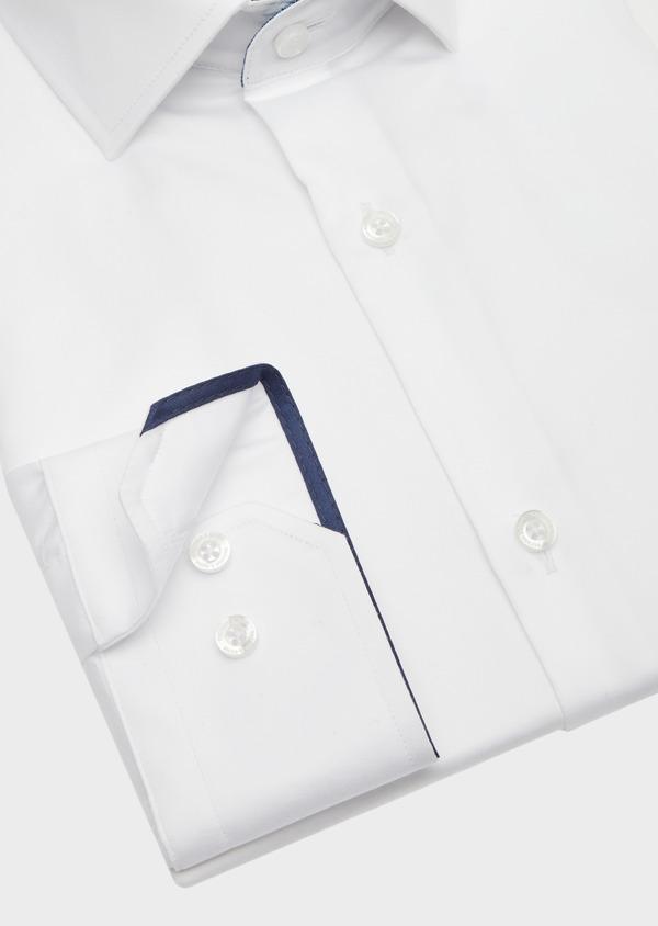 Chemise habillée Regular en satin de coton uni blanc - Father and Sons 41736
