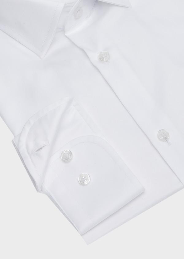 Chemise habillée Slim en satin de coton uni blanc - Father and Sons 40834