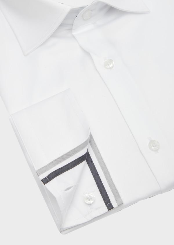 Chemise habillée Slim en satin de coton uni blanc - Father and Sons 41740