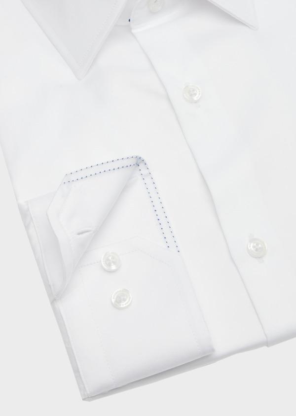 Chemise habillée Slim en satin de coton uni blanc - Father and Sons 40842