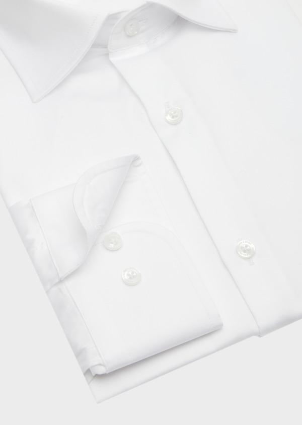 Chemise habillée Slim en satin de coton uni blanc - Father and Sons 41748