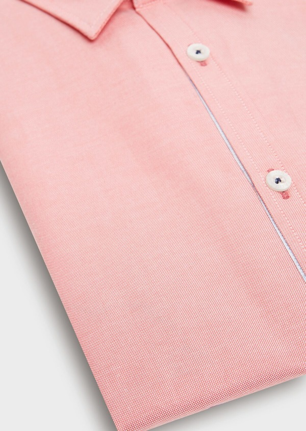 Chemise sport Regular en coton Oxford uni rose - Father and Sons 32561