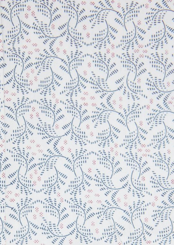 Chemise sport Slim en popeline de coton à motif fantaisie bleu et violet - Father and Sons 32575