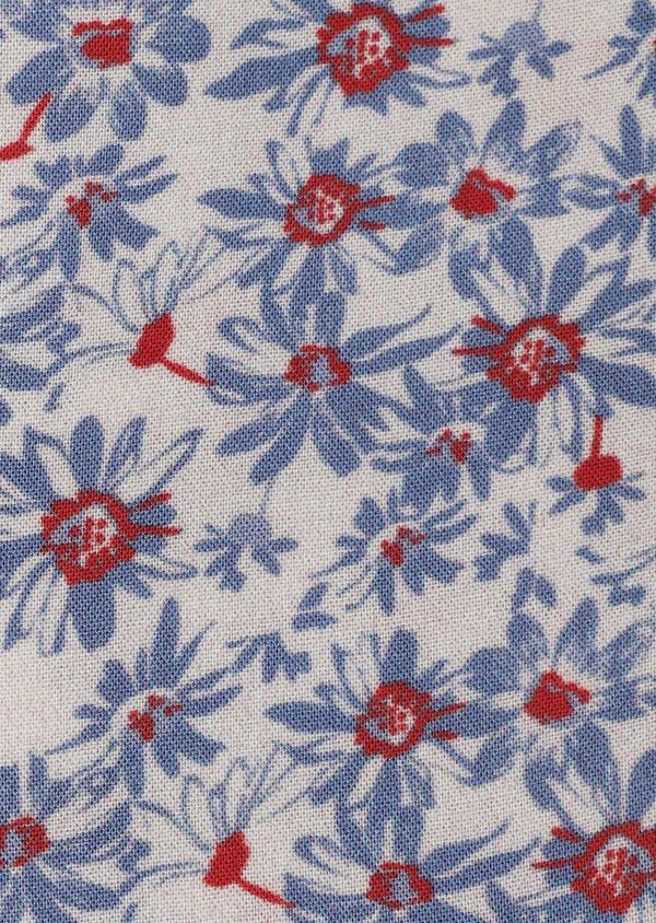 Chemise manches courtes Slim beige à motif fleuri - Father and Sons 34447