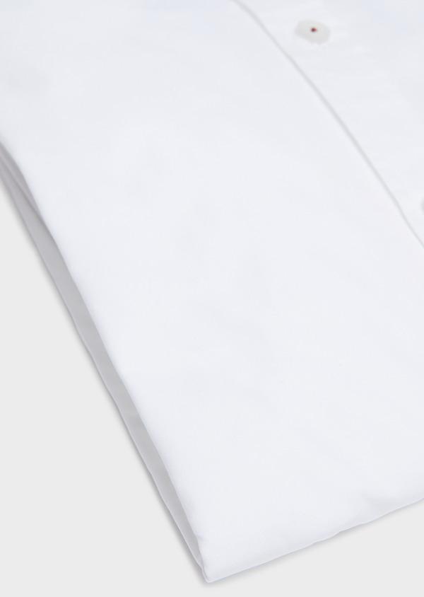 Chemise sport Slim en popeline de coton uni blanc - Father and Sons 32589
