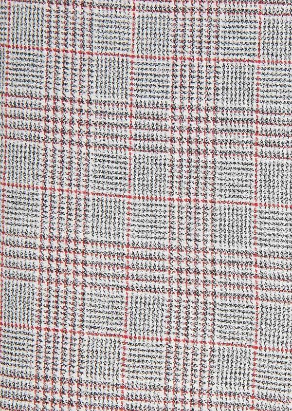 Chemise sport Slim en coton gris foncé à motif Prince-de-Galles rouge - Father and Sons 31318