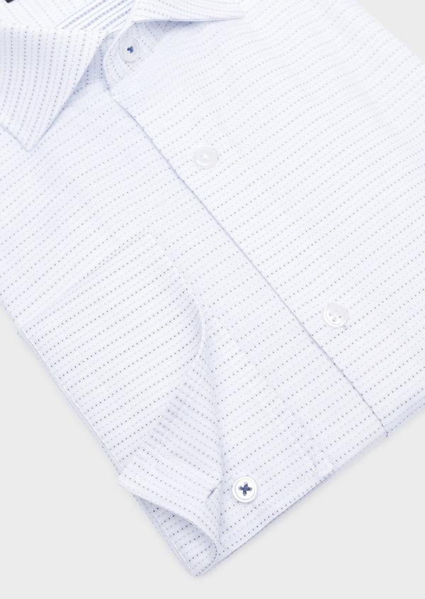 Chemise habillée Slim en coton Jacquard blanc à motif fantaisie - Father and Sons 32313