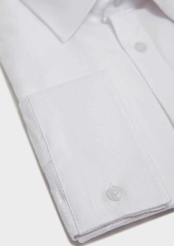 Chemise habillée Slim en coton façonné à motif fantaisie blanc - Father and Sons 31736