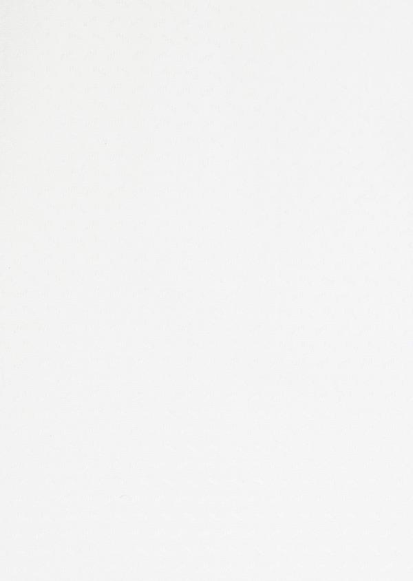 Chemise habillée Slim en coton façonné blanc à motif fantaisie blanc - Father and Sons 32319