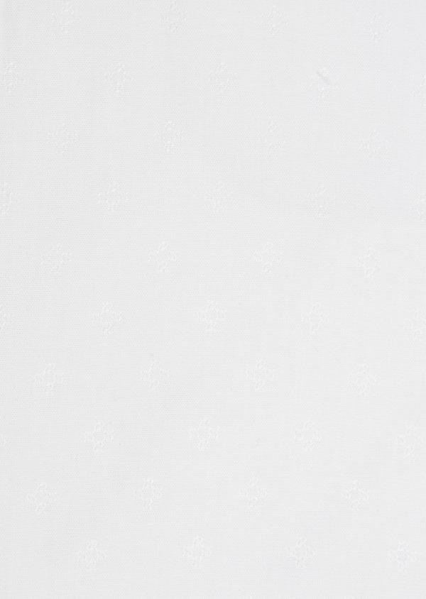 Chemise habillée Slim en popeline de coton blanc à motif fantaisie ton-sur-ton - Father and Sons 32363