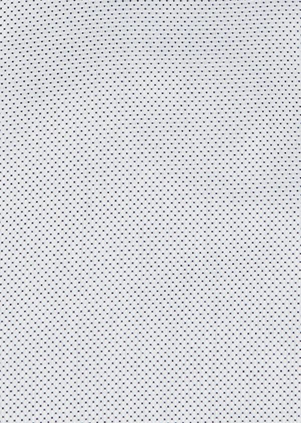 Chemise habillée Slim en coton Jacquard blanc à motif fantaisie bleu marine - Father and Sons 26102