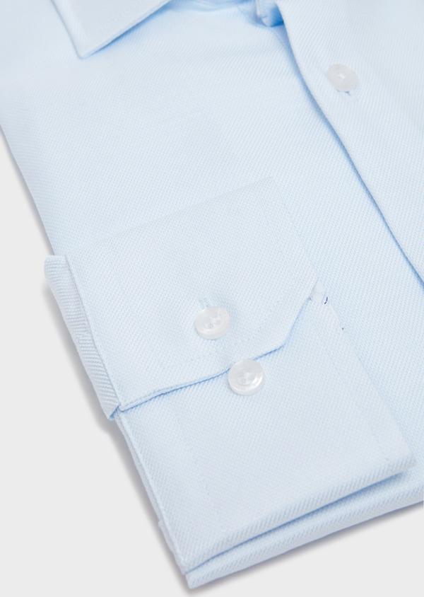 Chemise habillée Slim en coton façonné à motif fantaisie bleu ciel - Father and Sons 31756