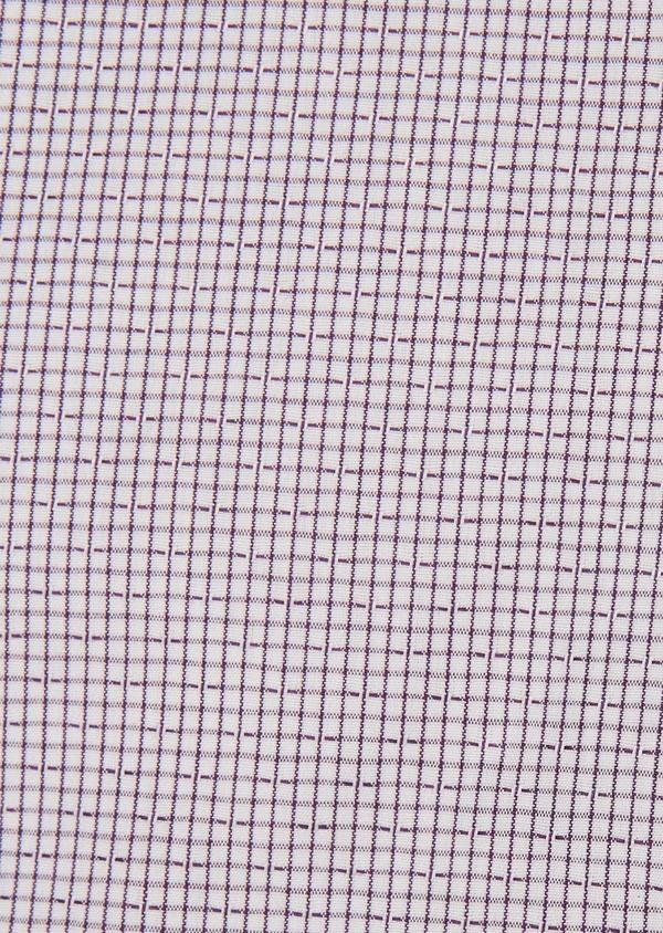 Chemise habillée Slim en popeline de coton violet à motif fantaisie - Father and Sons 26208