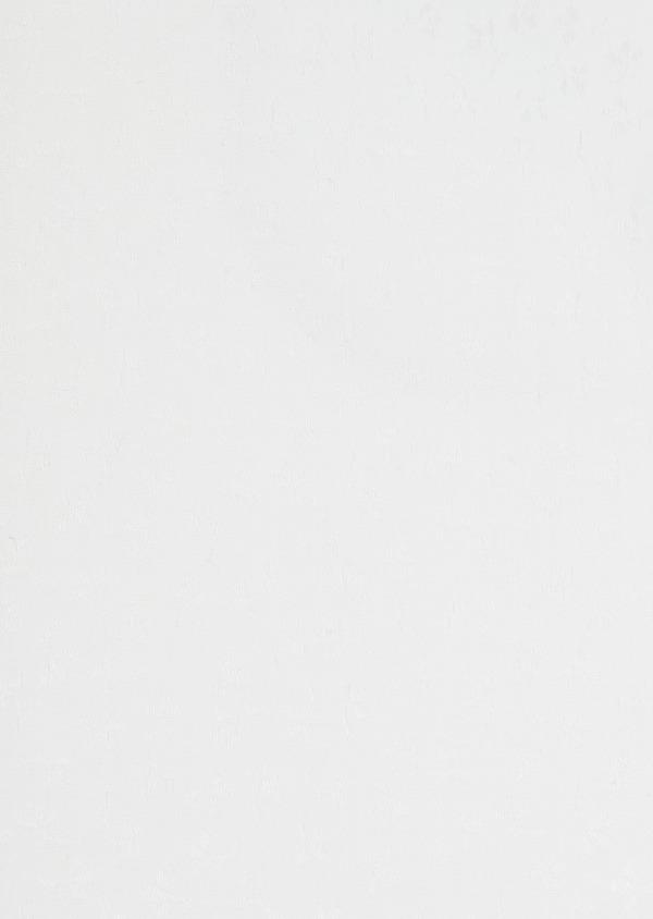Chemise habillée Slim en coton blanc façonné à motif fleuri ton-sur-ton - Father and Sons 32415