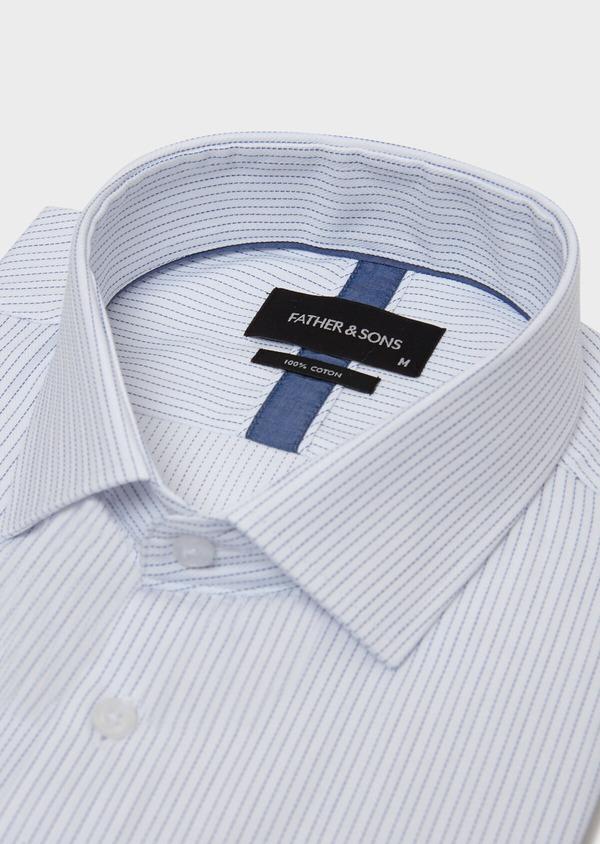 Chemise habillée Slim en coton à motifs géométriques chambray - Father and Sons 31765