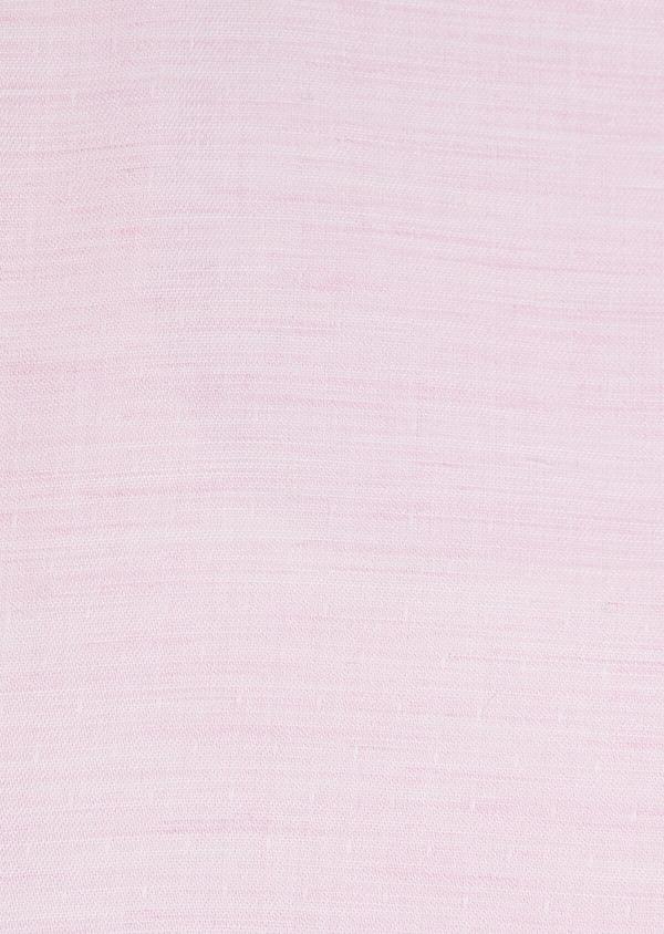 Chemise habillée Slim en pinpoint de coton rose à pois blancs - Father and Sons 32403