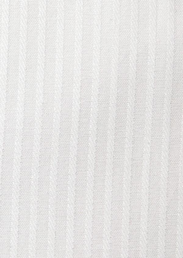 Chemise habillée Slim en coton façonné blanc à rayures ton-sur-ton - Father and Sons 32379
