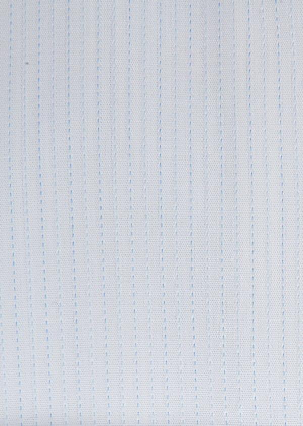 Chemise habillée Slim en coton façonné à rayures bleu ciel - Father and Sons 32323