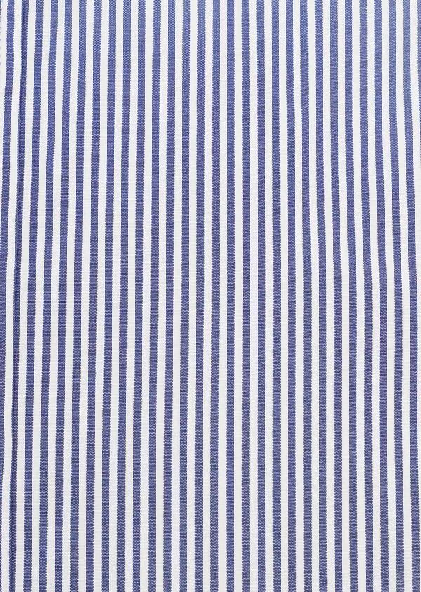 Chemise habillée Slim en popeline de coton à rayures bleues - Father and Sons 32299