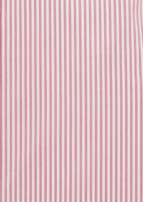 Chemise habillée Slim en popeline de coton à rayures rose foncé - Father and Sons 32291
