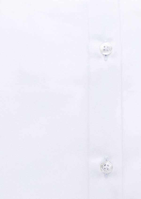 Chemise habillée Slim en popeline de coton uni blanc - Father and Sons 28636