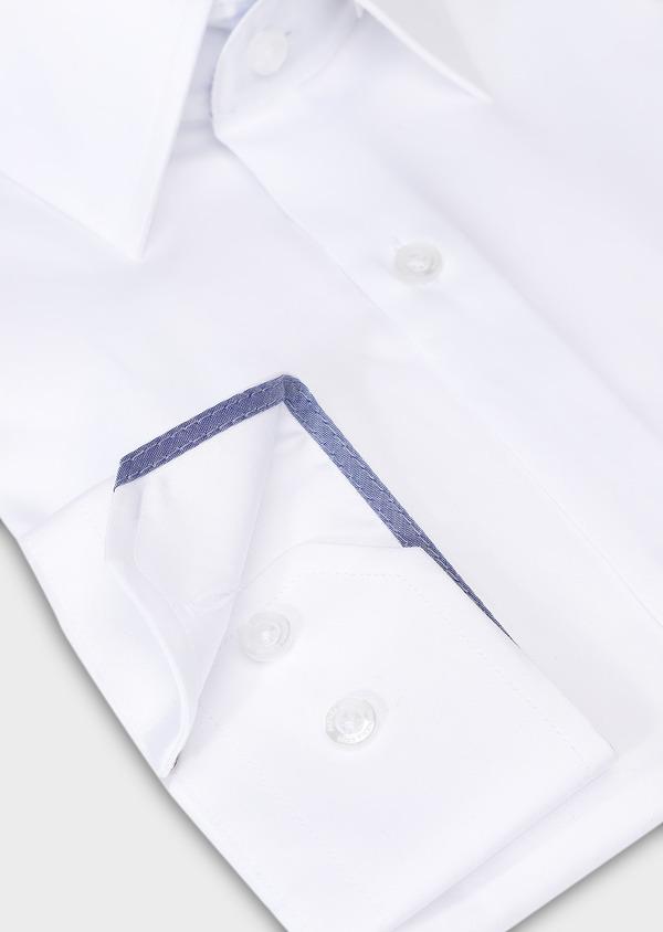 Chemise habillée Slim en popeline de coton uni blanc - Father and Sons 28638
