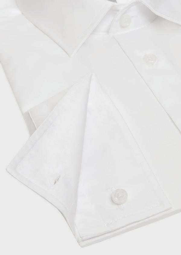 Chemise habillée Slim en satin de coton uni blanc - Father and Sons 32373