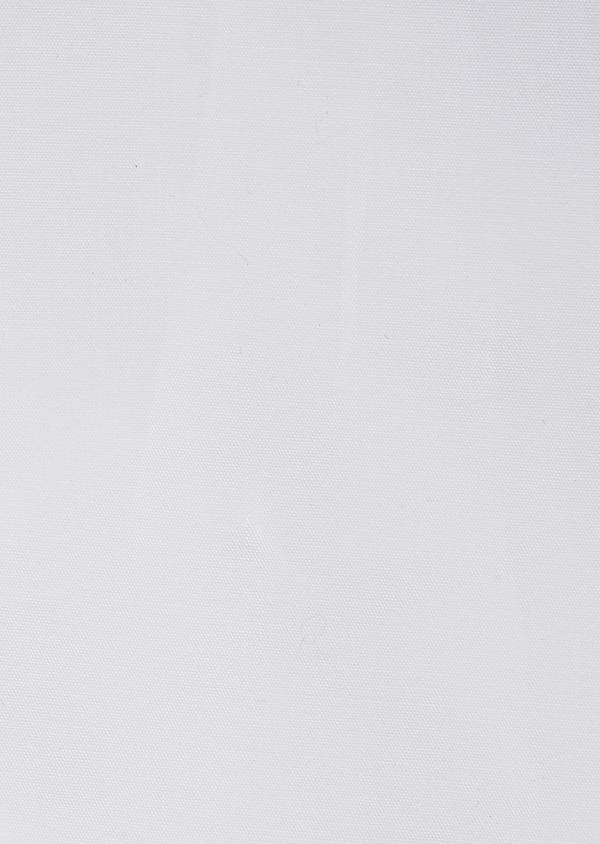 Chemise habillée Slim en popeline de coton stretch uni blanc à col officier - Father and Sons 32467
