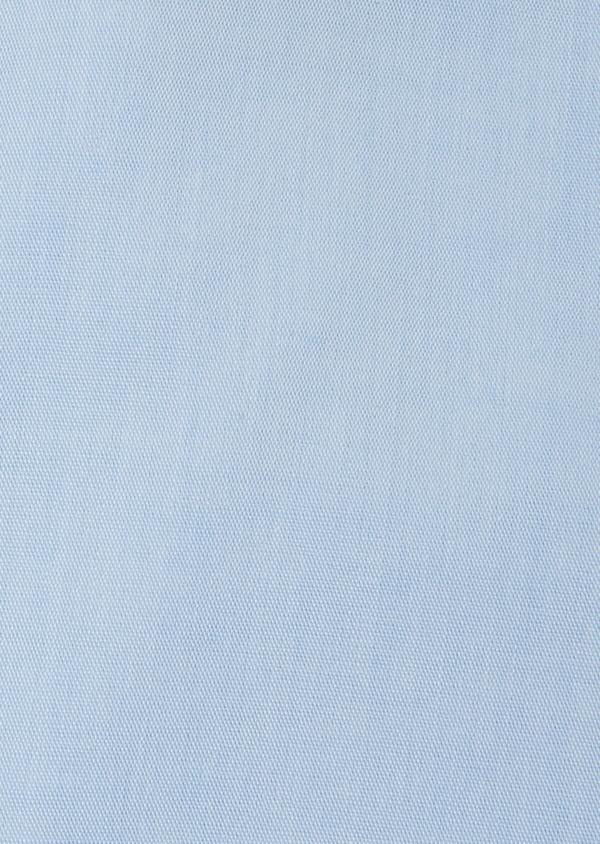 Chemise habillée non-iron Slim en popeline de coton uni bleu ciel - Father and Sons 36534