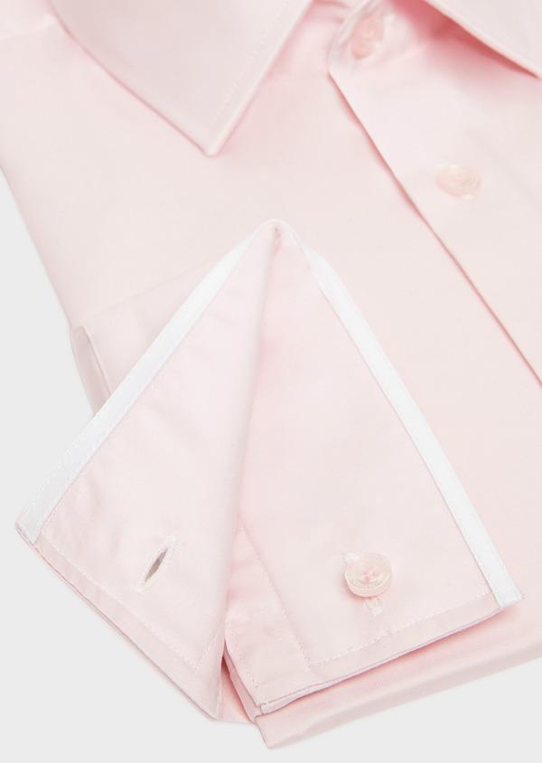 Chemise habillée Slim en satin de coton uni rose - Father and Sons 32413