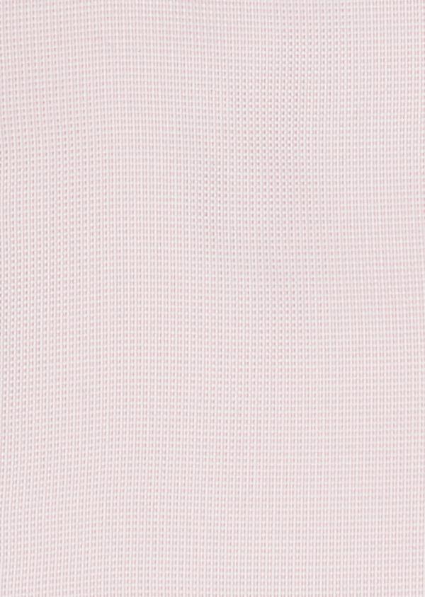 Chemise habillée Slim en coton façonné rose à motif fantaisie blanc - Father and Sons 26057