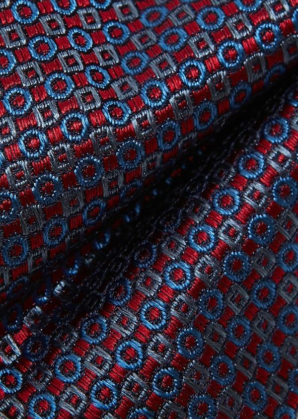Coffret noeud-papillon et boutons de manchettes à motif fantaisie rouge - Father and Sons 27322