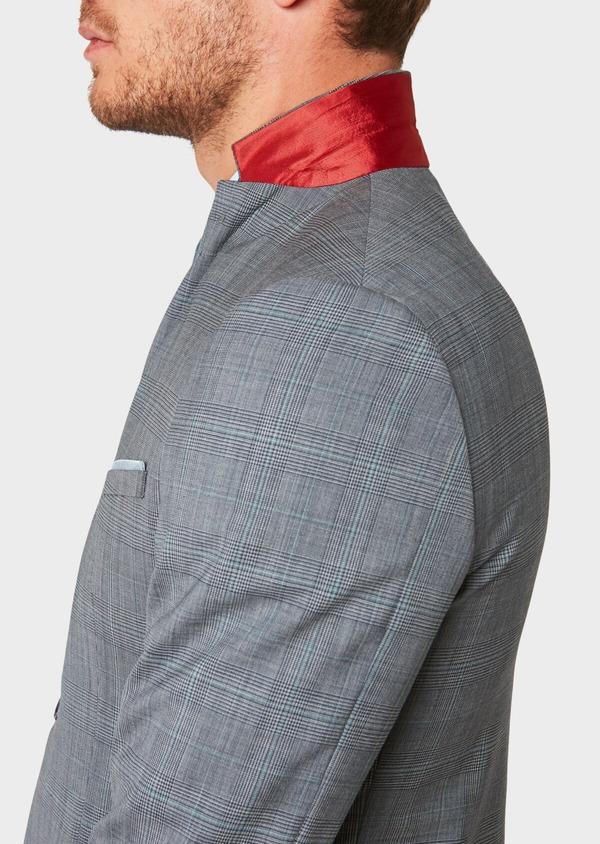 Costume 2 pièces Regular en laine bleu gris Prince de Galles - Father and Sons 32673