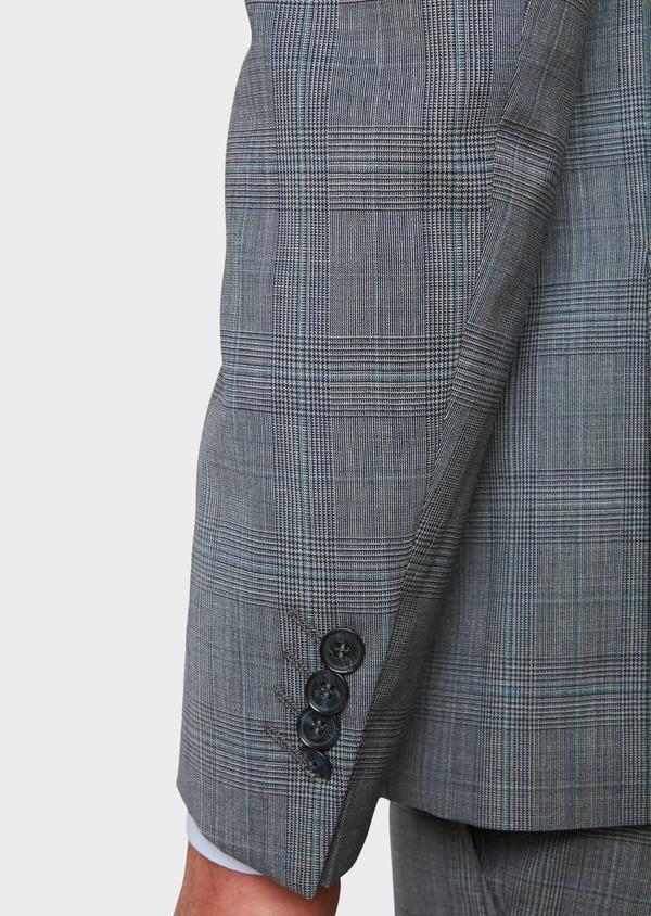Costume 2 pièces Regular en laine bleu gris Prince de Galles - Father and Sons 32674