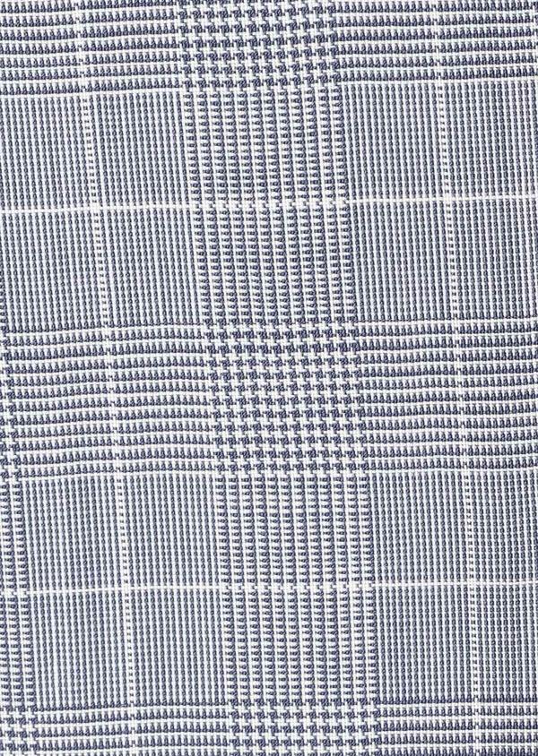 Costume 2 pièces Slim en laine bleu ciel à carreaux - Father and Sons 40547