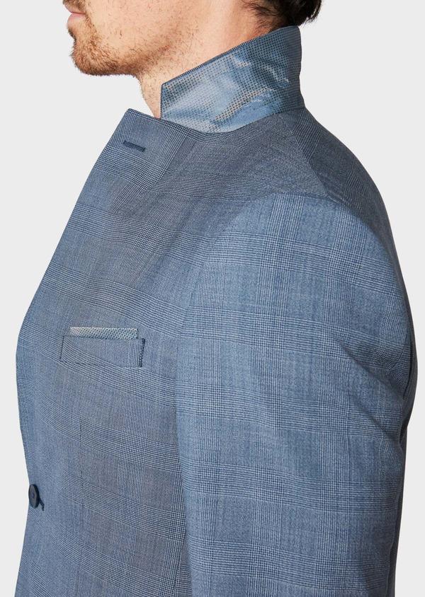 Costume 2 pièces Slim en laine bleu chambray Prince de Galles - Father and Sons 32736