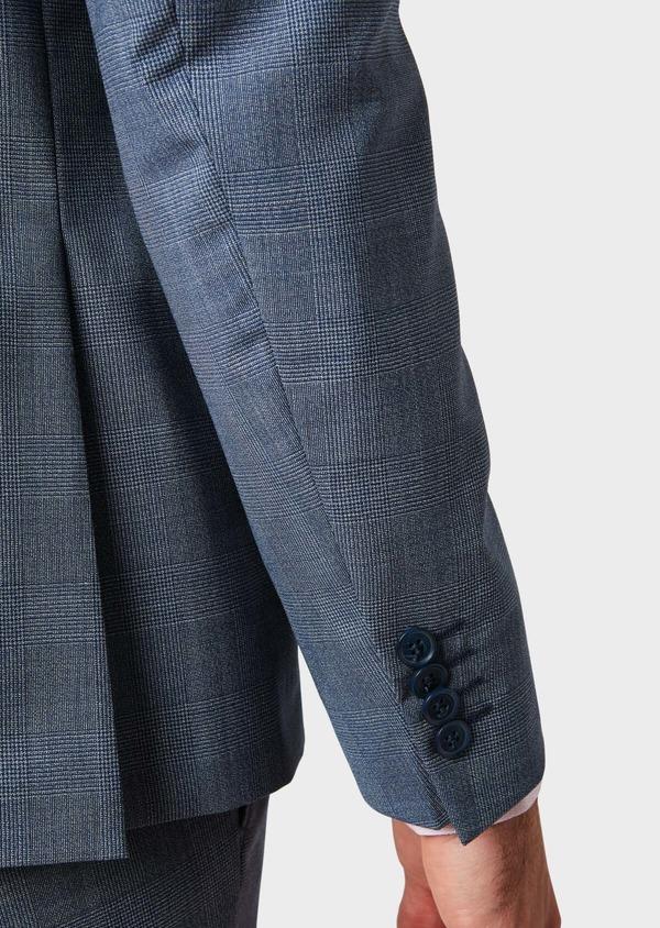 Costume 2 pièces Slim en laine bleu chambray Prince de Galles - Father and Sons 32737