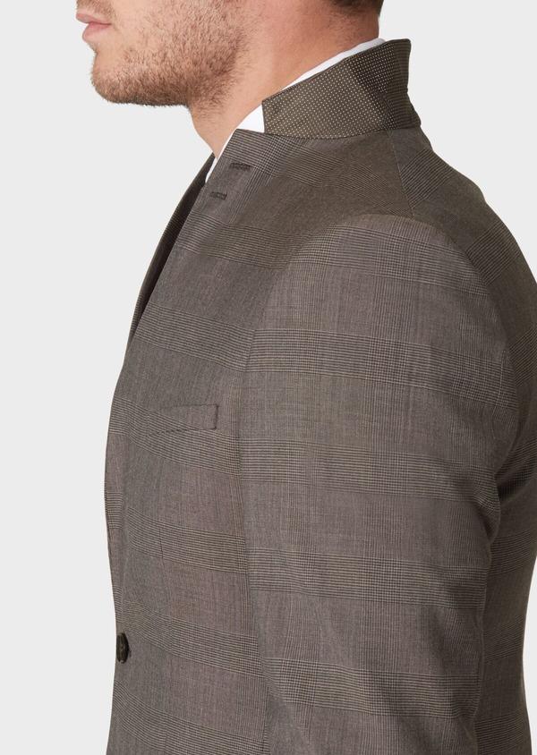 Costume 2 pièces Slim en laine marron Prince de Galles - Father and Sons 34144