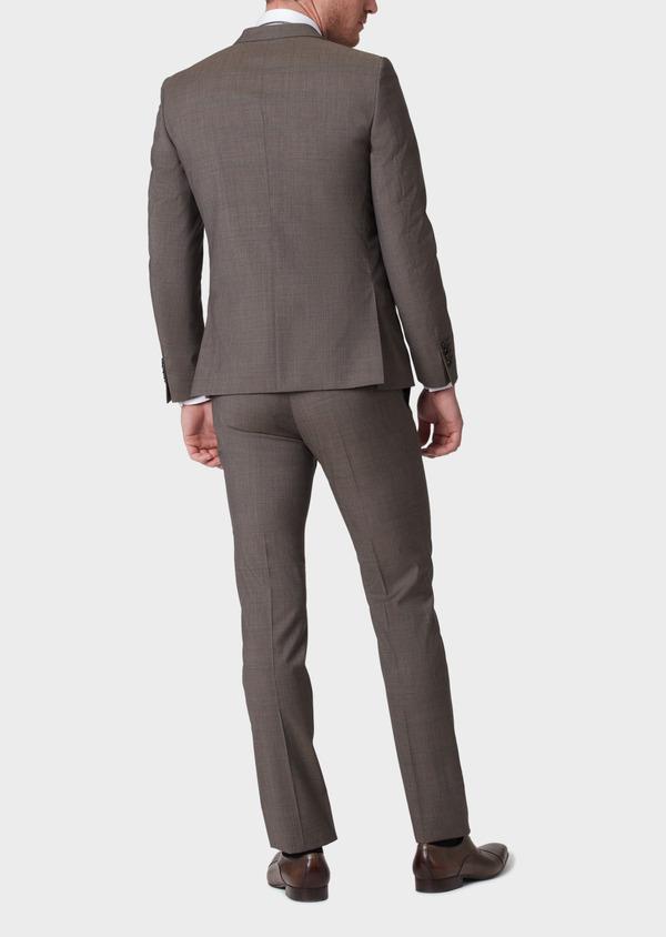 Costume 2 pièces Slim en laine marron Prince de Galles - Father and Sons 34143