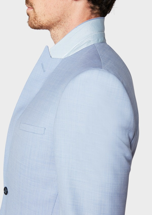 Costume 2 pièces Slim en laine unie bleu ciel - Father and Sons 34137