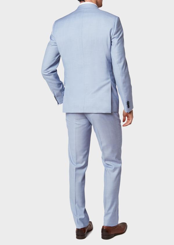 Costume 2 pièces Slim en laine unie bleu ciel - Father and Sons 34136