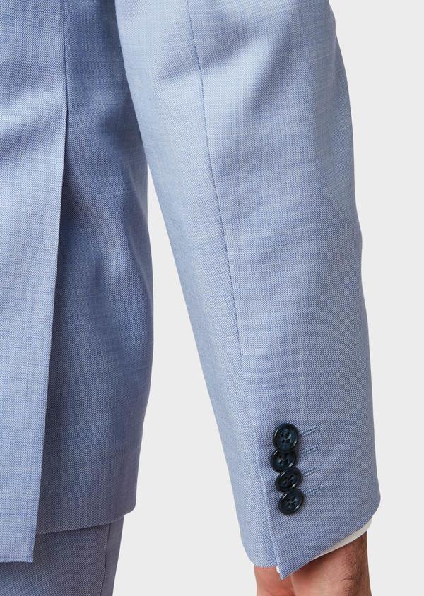 Costume 2 pièces Slim en laine unie bleu ciel - Father and Sons 34138