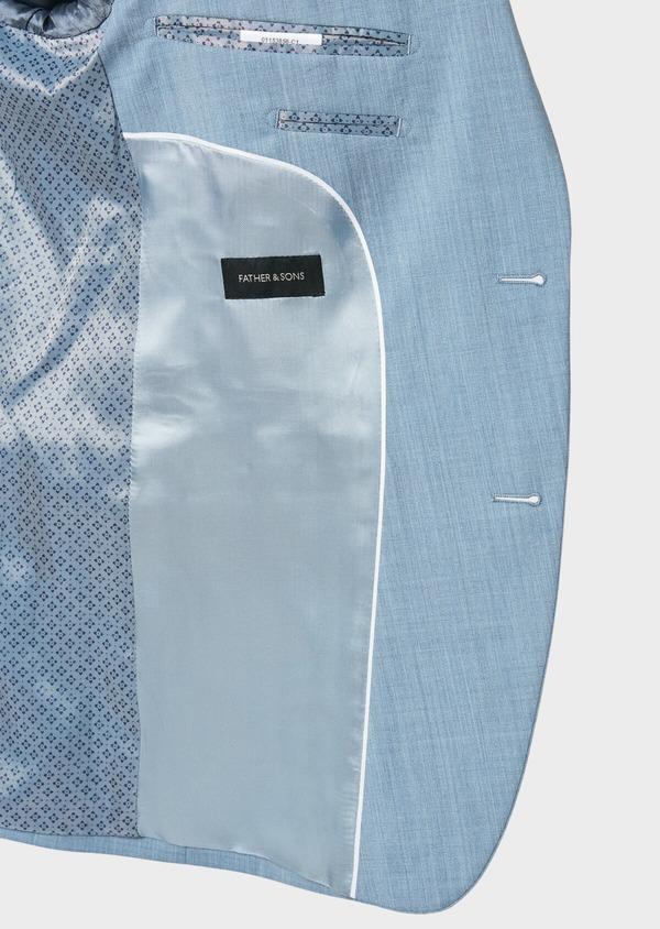 Costume 2 pièces Slim en laine unie bleu gris - Father and Sons 32668