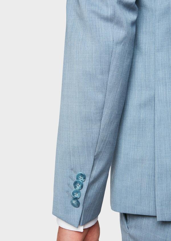 Costume 2 pièces Slim en laine unie bleu gris - Father and Sons 32667