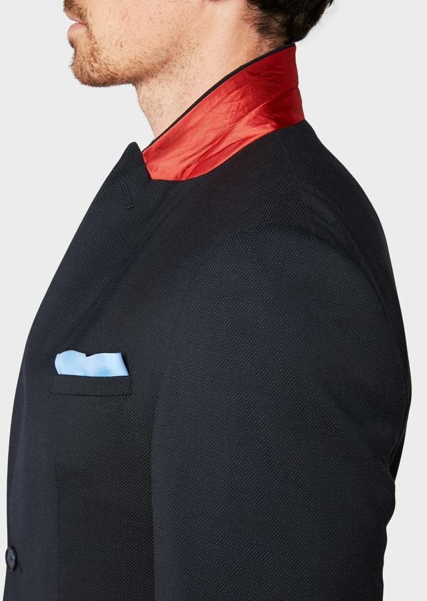 Costume 2 pièces Slim en laine mélangée unie bleu marine - Father and Sons 32659