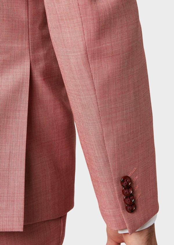 Costume 2 pièces Slim en laine unie rouge - Father and Sons 32788