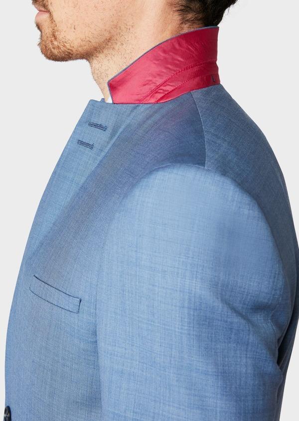 Costume 2 pièces Slim en laine unie bleue - Father and Sons 32638