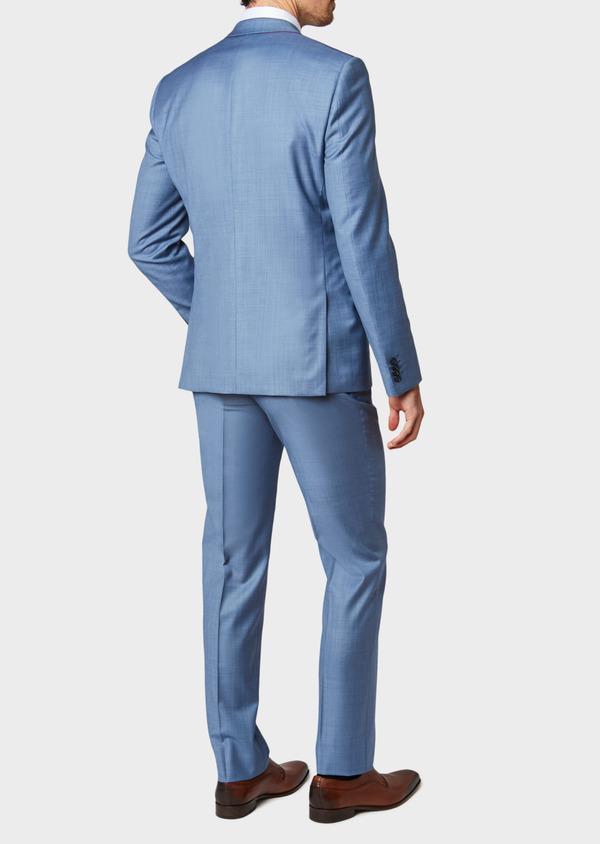 Costume 2 pièces Slim en laine unie bleue - Father and Sons 32637