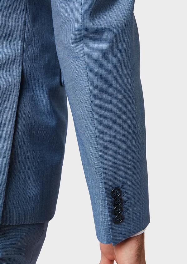 Costume 2 pièces Slim en laine unie bleue - Father and Sons 32639