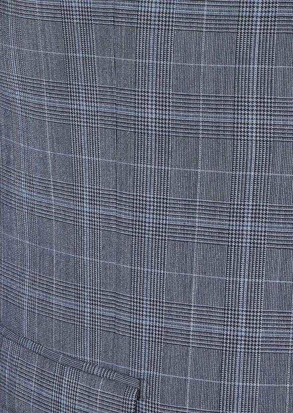 Costume 2 pièces Slim en laine bleu indigo Prince de Galles - Father and Sons 40953